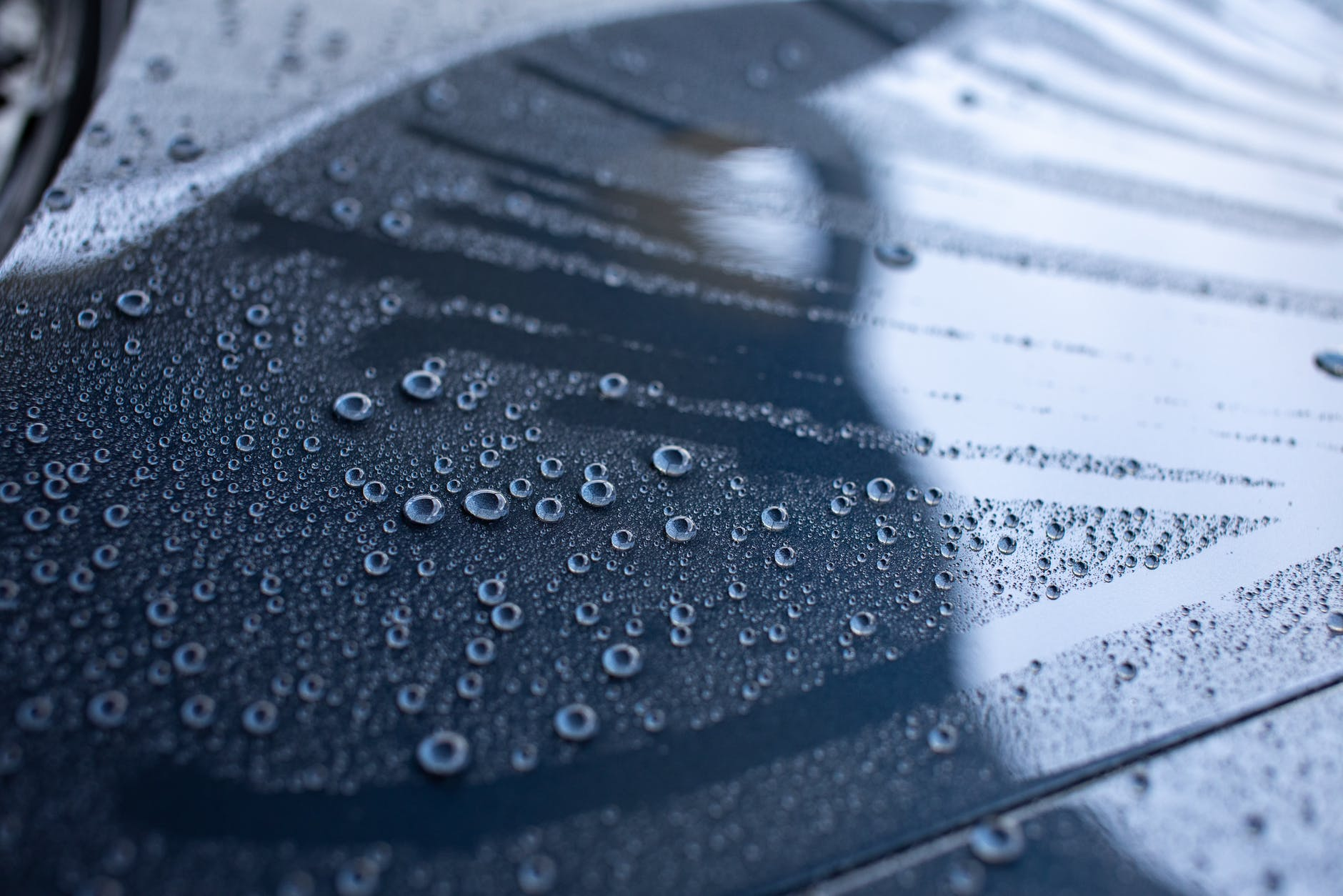 water droplets on clear glass